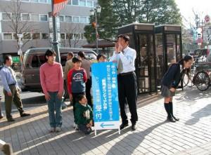 拉致被害者救済のために前橋、高崎、吾妻、利根沼田などで街頭活動を行いました。