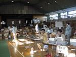 平成16年11月4日山古志村避難所